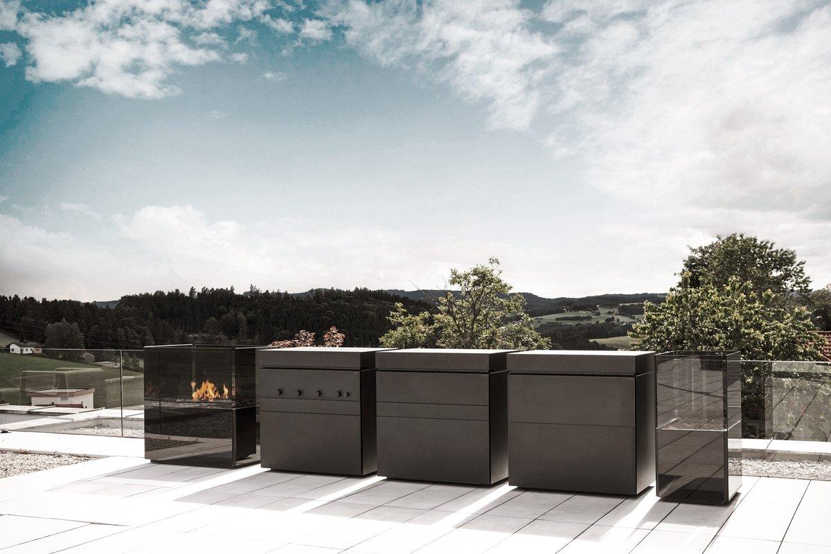 Modulare Moderne Outdoor Kuche Aus Edelstahl Steininger